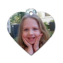 Emilee And Madison By Shirley   Dog Tag Heart (two Sides)   Vpckb4xwctdh   Www Artscow Com Front