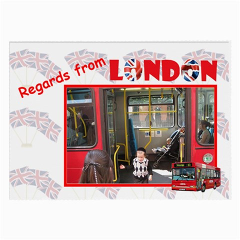 Regards From London By Rivke   Large Glasses Cloth   Gl07ve1p9pbi   Www Artscow Com Front