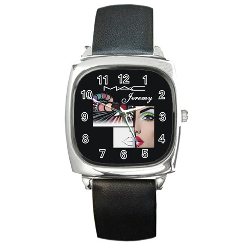 Mac Watch B By Pat Kirby   Square Metal Watch   4zey7jc3xm3h   Www Artscow Com Front