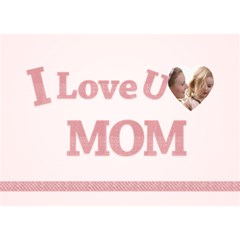 I Love You Mom By Joely   I Love You 3d Greeting Card (7x5)   Cq1dsq9nv98x   Www Artscow Com Front