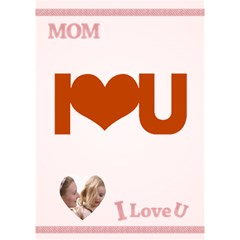 I Love You Mom By Joely   I Love You 3d Greeting Card (7x5)   Cq1dsq9nv98x   Www Artscow Com Inside
