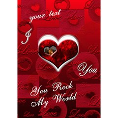 I Heart You Red 3d Card By Ellan   Heart 3d Greeting Card (7x5)   Ykjdtfrerume   Www Artscow Com Inside
