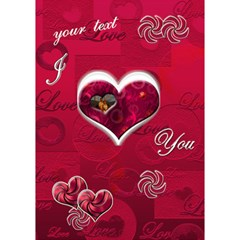 I Heart You Pink 3d Card By Ellan   Heart 3d Greeting Card (7x5)   8ox1zgfdwsob   Www Artscow Com Inside
