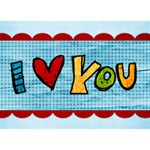 Cheery Love 3D - I Love You 3D Greeting Card (7x5)