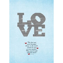 3d Love Blue Hearts By Albums To Remember   Love 3d Greeting Card (7x5)   V1jl8qhm3zyk   Www Artscow Com Inside