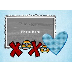 3d Love Blue Hearts By Albums To Remember   Love 3d Greeting Card (7x5)   V1jl8qhm3zyk   Www Artscow Com Back