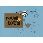 Rough & Tough Boy 3D - BOY 3D Greeting Card (7x5)
