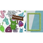 3D Monster Party Invitation 1 - PARTY 3D Greeting Card (8x4)
