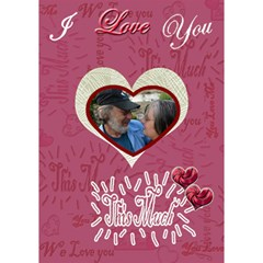 Love You This Much Pink 3d Card By Ellan   Heart 3d Greeting Card (7x5)   W0bfwyp7se88   Www Artscow Com Inside