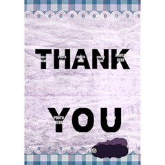 3d Lavender Rain Thank You Card 1 By Lisa Minor   Thank You 3d Greeting Card (7x5)   U45dliyknmvx   Www Artscow Com Inside