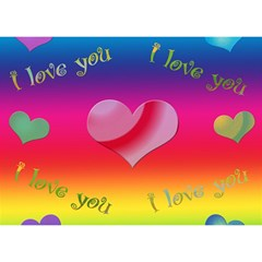 I Love You   3d Card By Kdesigns   I Love You 3d Greeting Card (7x5)   E7osjncn68bl   Www Artscow Com Front