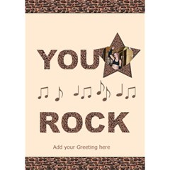 You Rock 2 3d Card By Deborah   You Rock 3d Greeting Card (7x5)   6loy7row9kn8   Www Artscow Com Inside