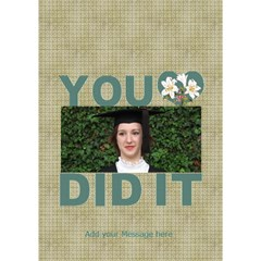Congrats You Did It 3d Card By Deborah   You Did It 3d Greeting Card (7x5)   1vkuu9odvb6t   Www Artscow Com Inside