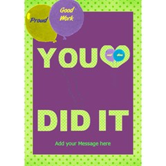 You Did It With Balloons 3d Card By Deborah   You Did It 3d Greeting Card (7x5)   Ia2kg99yjzoc   Www Artscow Com Inside