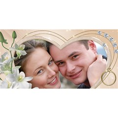 Our Engagement 3d Card By Deborah   Engaged 3d Greeting Card (8x4)   Pbh714disxt4   Www Artscow Com Front