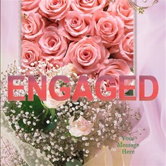 3d Engagement Card With Roses By Deborah   Engaged 3d Greeting Card (8x4)   Mth7vts4w9qa   Www Artscow Com Inside