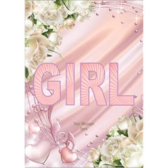 Announcing Our Girl 3d Card By Deborah   Girl 3d Greeting Card (7x5)   2ak4ktlg1j8h   Www Artscow Com Inside