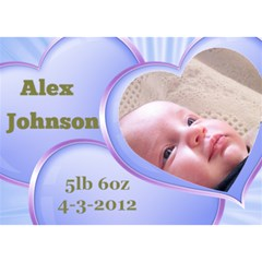 Announcing Our Baby Boy 3d Card By Deborah   Boy 3d Greeting Card (7x5)   Uck6sil01z7w   Www Artscow Com Front