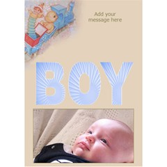 Announcing Our Baby Boy 3d Card By Deborah   Boy 3d Greeting Card (7x5)   Uck6sil01z7w   Www Artscow Com Inside