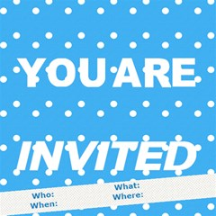 Any Occasion  You Are Invited By Daniela   You Are Invited 3d Greeting Card (8x4)   Ucvlcdpff9bu   Www Artscow Com Inside