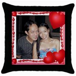 mhelanpillow1 - Throw Pillow Case (Black)