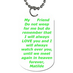 Friend By Maryalice   Dog Tag (two Sides)   Drgj4qpxf7yk   Www Artscow Com Back