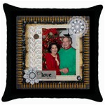 mhelanpillow6 - Throw Pillow Case (Black)
