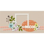 MOM 3D Card (8x4): Mom 4 - MOM 3D Greeting Card (8x4)