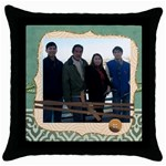 mhelanpillow7 - Throw Pillow Case (Black)