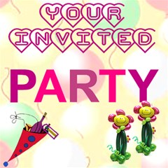 Party Invite By Malky   Party 3d Greeting Card (8x4)   2zy6l622riso   Www Artscow Com Inside