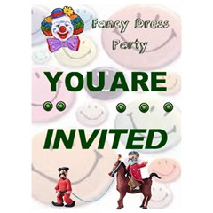 Fancy Dress Party By Malky   You Are Invited 3d Greeting Card (7x5)   I84kd9kxxh6m   Www Artscow Com Inside