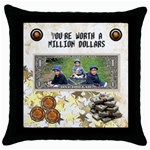 Million dollars cushion - Throw Pillow Case (Black)