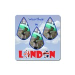 Weather in London - Magnet (Square)