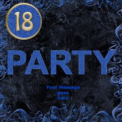 18th Blue Birthday Party 3d Card By Deborah   Party 3d Greeting Card (8x4)   Wuvmes84lmyp   Www Artscow Com Inside