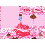 Cute Chocolates Valentine - LOVE 3D Greeting Card (7x5)