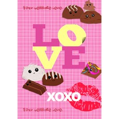 Cute Chocolates Valentine By Krystal   Love 3d Greeting Card (7x5)   Qpy5yf00qbi7   Www Artscow Com Inside