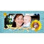 3D Mom Card, Sunflowers - MOM 3D Greeting Card (8x4)