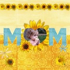 3d Mom Card, Sunflowers By Mikki   Mom 3d Greeting Card (8x4)   80lo9qdsfyf3   Www Artscow Com Inside
