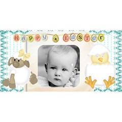 Easter Hugs 3d Card By Catvinnat   Hugs 3d Greeting Card (8x4)   Bl2bx80uaamw   Www Artscow Com Front