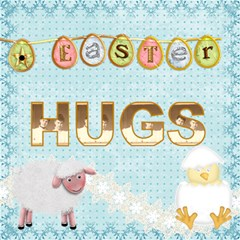 Easter Hugs 3d Card By Catvinnat   Hugs 3d Greeting Card (8x4)   Bl2bx80uaamw   Www Artscow Com Inside