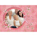 Hope 3D Card, Breast Cancer Awareness - HOPE 3D Greeting Card (7x5)