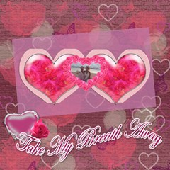 You Take My Breath Away  Twin Heart  3d Card By Ellan   Twin Hearts 3d Greeting Card (8x4)   Mevnlrc9j87w   Www Artscow Com Inside