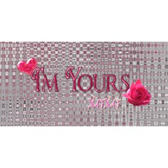 You re My Heart & Soul Twin Heart 3d Card By Ellan   Twin Hearts 3d Greeting Card (8x4)   4cbqbdcyjtq9   Www Artscow Com Back