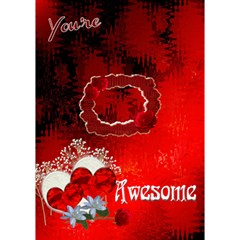 Remember You re Awesome Heart 3d Card Template By Ellan   Heart 3d Greeting Card (7x5)   Ux0b7gm96km8   Www Artscow Com Inside