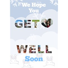 Get Well By Kim Blair   Get Well 3d Greeting Card (7x5)   7tke7qkj0m4k   Www Artscow Com Inside