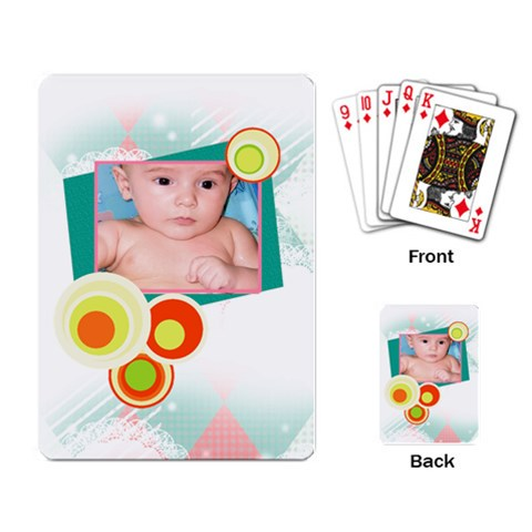 Baby Cards By Mierrsur   Playing Cards Single Design   Sb3r9awt2uv3   Www Artscow Com Back