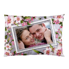 Pink Floral Pilow Case (2 Sided) By Deborah   Pillow Case (two Sides)   Xhhx41gcj8l2   Www Artscow Com Front