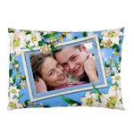 blue floral Pilow case (2 sided) - Pillow Case (Two Sides)