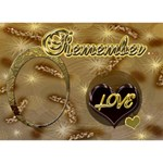 Remember - I LOVE OUR LIFE 3d card - LOVE 3D Greeting Card (7x5)