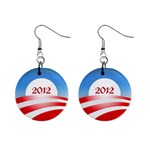 Obama 2012 Earrings - 1  Button Earrings